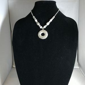 Fashion Silver beaded necklace